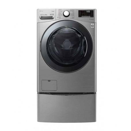 LG Lavadora de carga frontal Inverter / NFC con mini lavadora 48.4lbs WM22VV2S6B / WD100CV