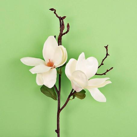 Rama con Flor Magnolia Blanco Haus