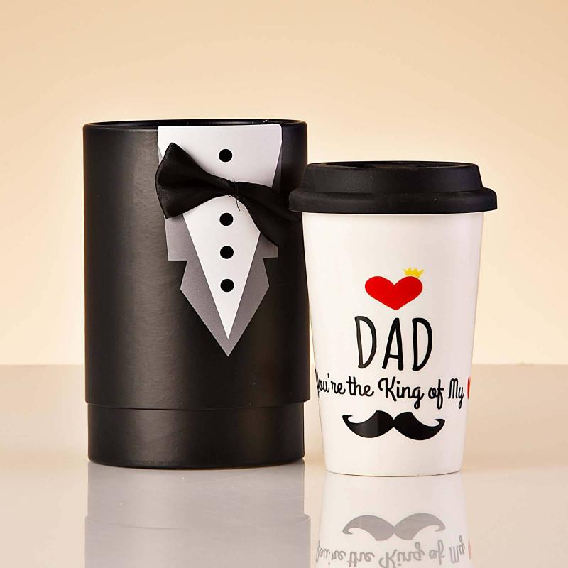 Vaso con tapa DAD LOVE YOU Haus