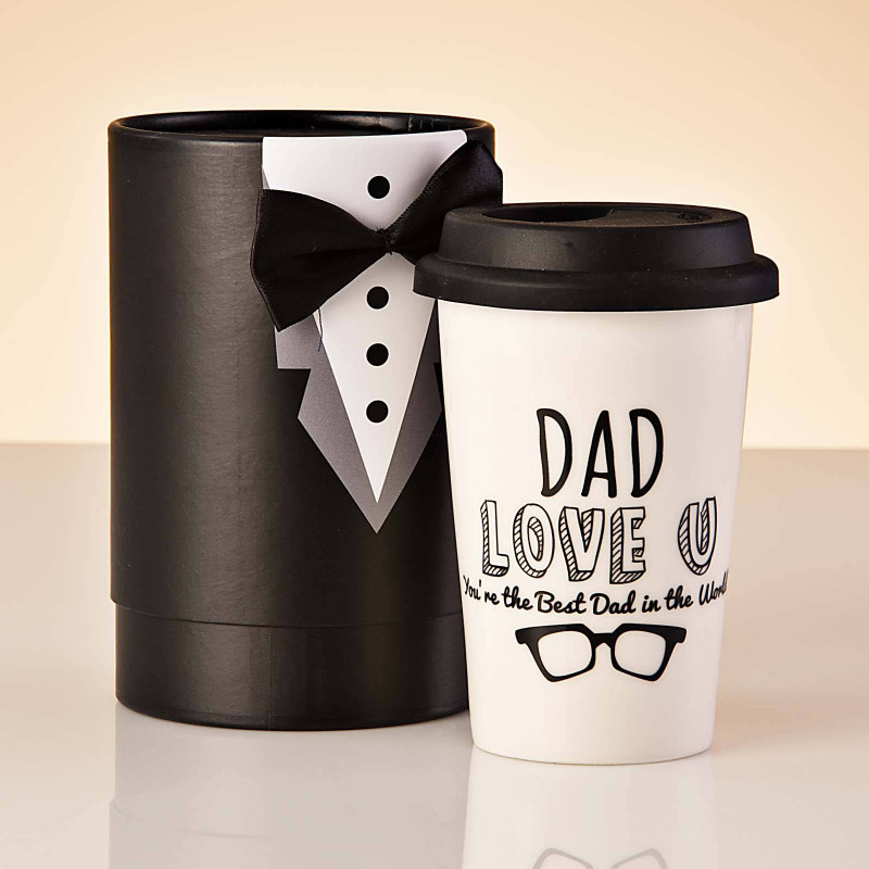 Vaso con tapa DAD YOU'RE THE KING OF MY HEART Haus
