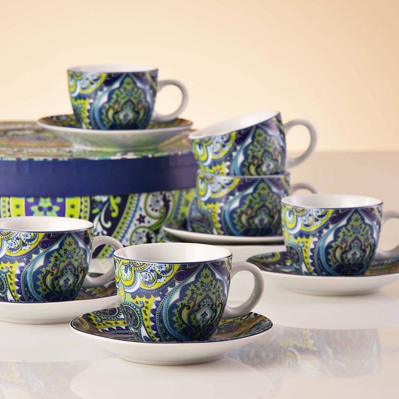 Juego de tazas y platos para expreso con caja de regalo Arabesco Haus