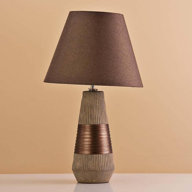Lámpara de mesa Base Habano / Franja Cobre