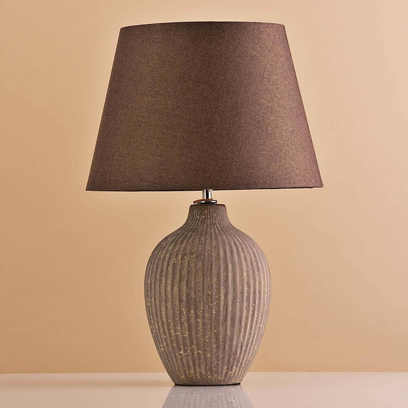 Lámpara de mesa Base Oval Habano Antique