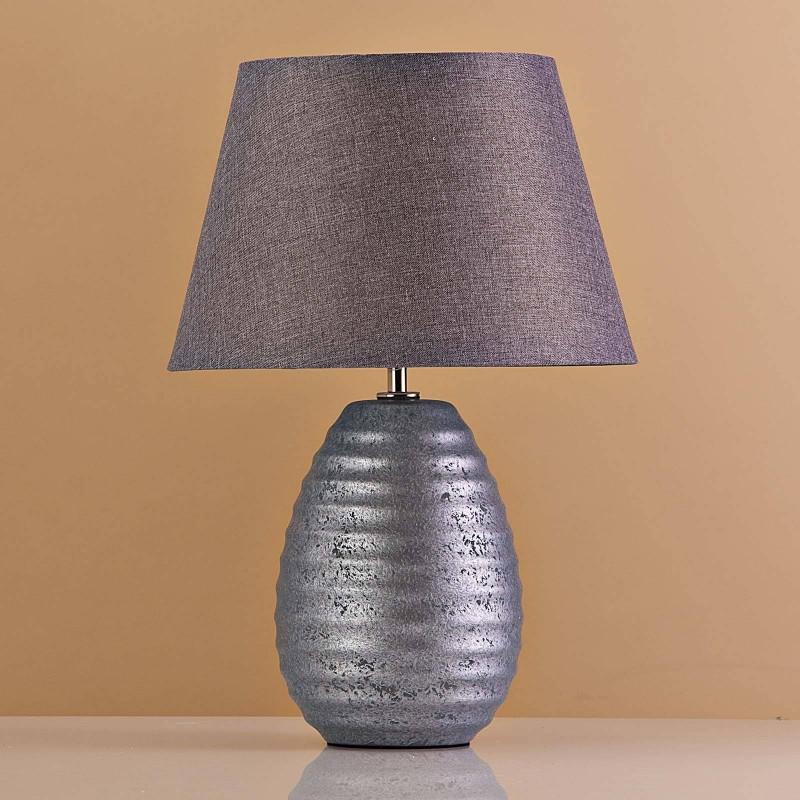 Lámpara de mesa Base Ovalada Gris Antique