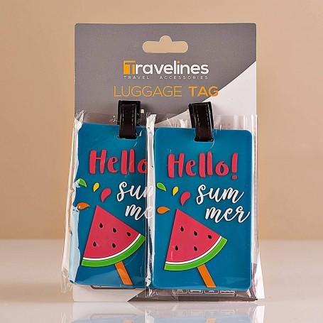 Juego de 2 identificadores para maleta Summer Travelines