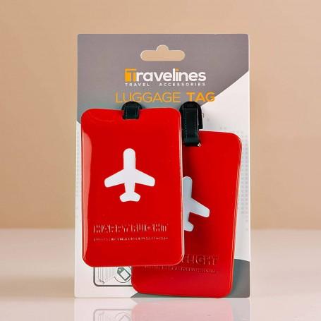 Juego de 2 identificadores para maleta Avión Travelines