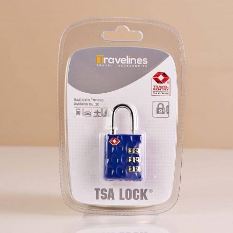 Candado para maleta con clave TSA Azul Travelines