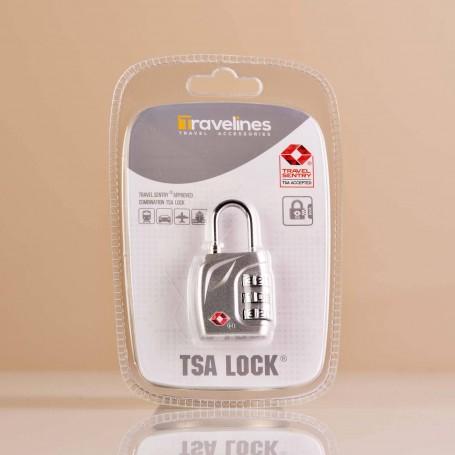 Candado para maleta con clave TSA Silver Travelines