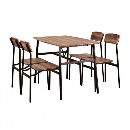 Comedor rectangular 4 puestos Miel