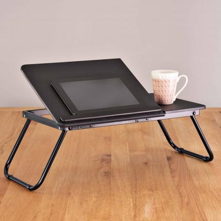 Bandeja desayunador / porta laptop plegable Negro