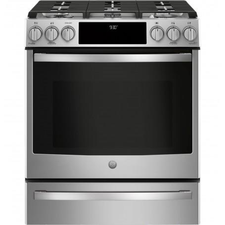 GE Cocina a gas 5 quemadores Convección / Wi-Fi de Uso Profesional 76cm PGS930SELSS