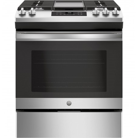 GE Cocina a gas 5 quemadores Cajón de almacenamiento / Autolimpieza de Uso Profesional 76cm JGSS66SELSS