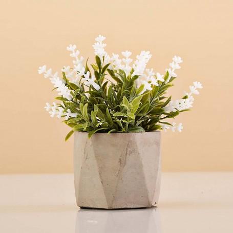 Mini planta artificial con maceta hexagonal Haus