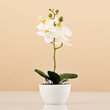 Planta artificial Orquídea con maceta Haus