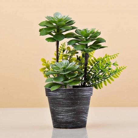 Planta artificial Monstera Multi Verde Claro con maceta Haus