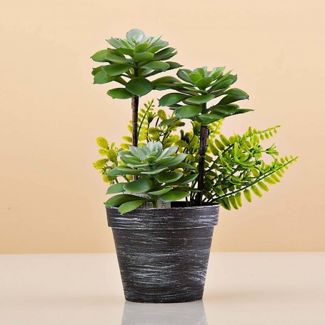 Planta artificial Monstera Multi Verde Claro con maceta Haus