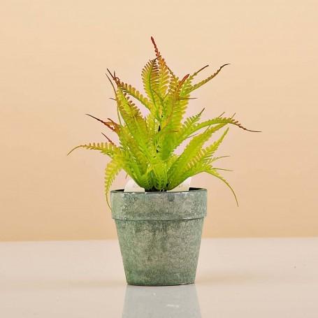 Mini planta artificial Verde con maceta Haus