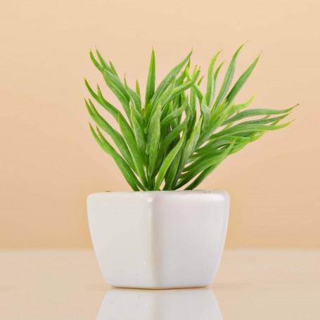 Mini planta artificial Verde con maceta Plástico / Cerámica Haus