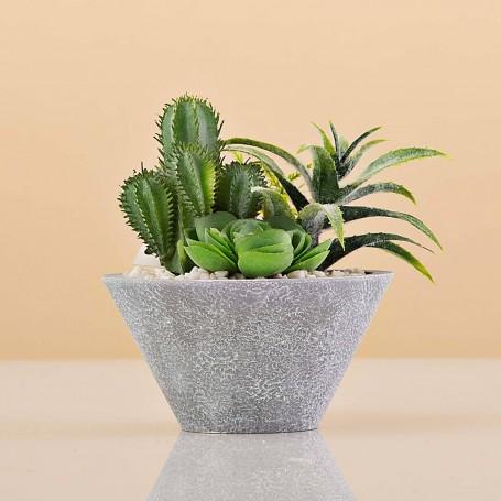 Mini planta artificial Terrario con maceta Haus