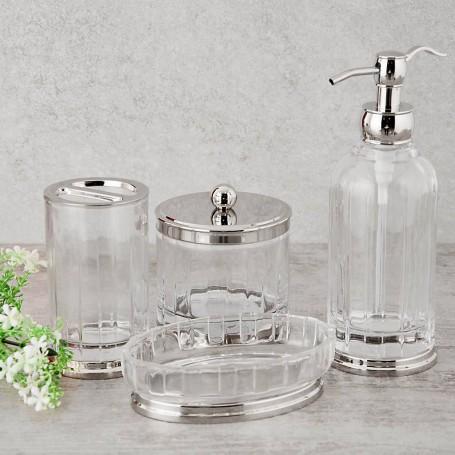 Colección de baño de vidrio / metal Clear
