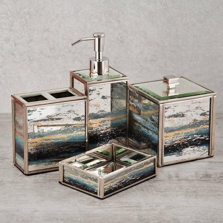 Colección de baño de vidrio Jaspeado