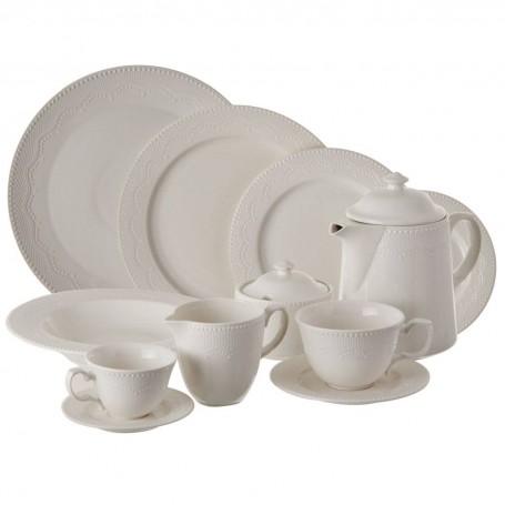 Colección de vajilla de porcelana Romantic Queen Lacy Haus