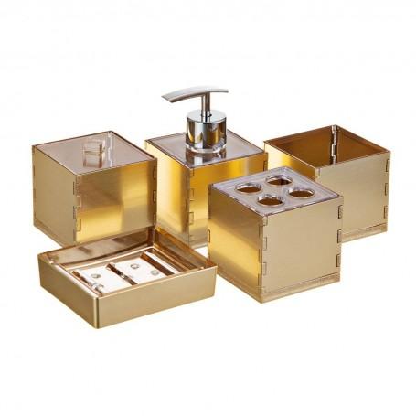 Colección de accesorios para baño Dorado