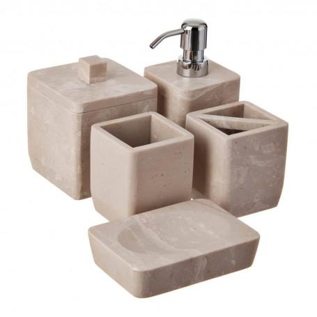 Colección de accesorios para baño Jaspeado Travertino
