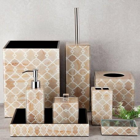 Colección de baño de vidrio Geométrico