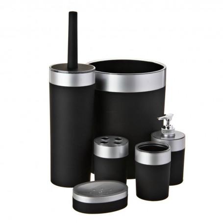 Colección de accesorios para baño Negro / Silver