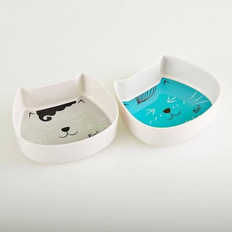 Plato para gato 2 piezas Gafas