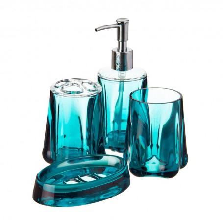 Colección de accesorios para baño Flower Teal