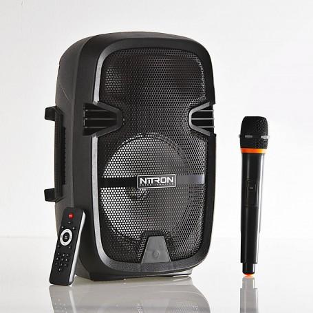 """Parlante para fiesta Bluetooth con micrófono inalámbrico / control 8"""" Nitron"""
