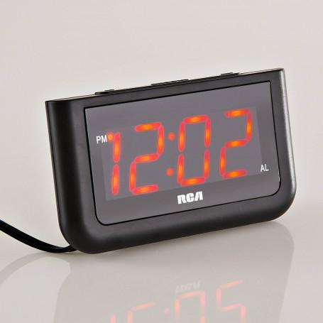 Reloj despertador con pantalla roja RCD30A RCA