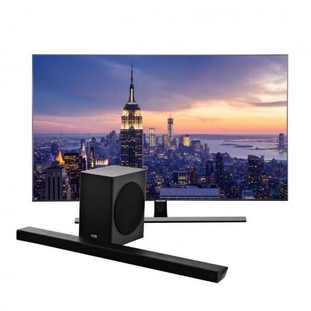"""Samsung TV QLED Digital ISDB-T UHD Smart 4 HDMI QN65Q80RAPXPA 65"""" + Barra de Sonido HW70QR"""