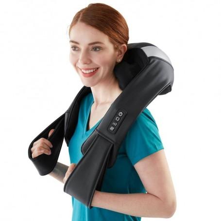 Masajeador Programable / Recargable / inalámbrico para cuello / espalda 3D con vibración / calor NMS-680HJ Homedics