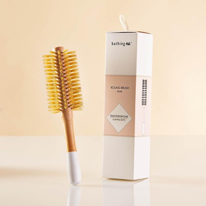 Cepillo redondo para cabello Madera de haya Ningbo Bathing