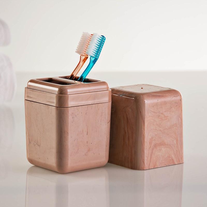 Porta cepillos Cube Mármol Coza
