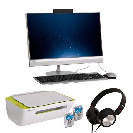 Combo Lenovo AIO AMD6 4GB/ 1TB + Impresora 2135 + Audífonos
