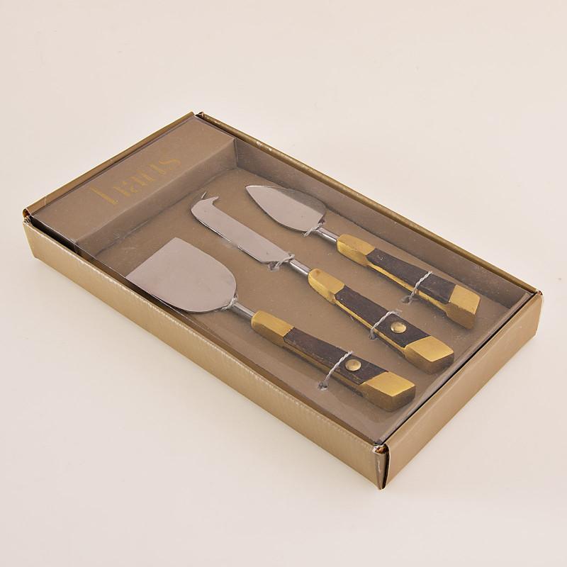 Espátula para queso 3 piezas con caja de regalo