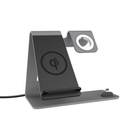 Cargador inalámbrico con soporte para celular / smartwatch VIDVIE
