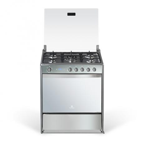 Indurama Cocina a gas 5 quemadores con 1 quemador triple / Reloj / Timer / Grill / Asado Montecarlo Quarzo