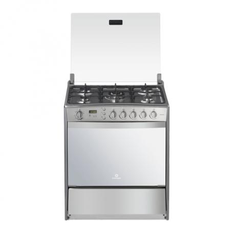 Indurama Cocina a gas 5 quemadores con 1 quemador triple / Reloj / Timer / Grill / Asador Mónaco Quarzo
