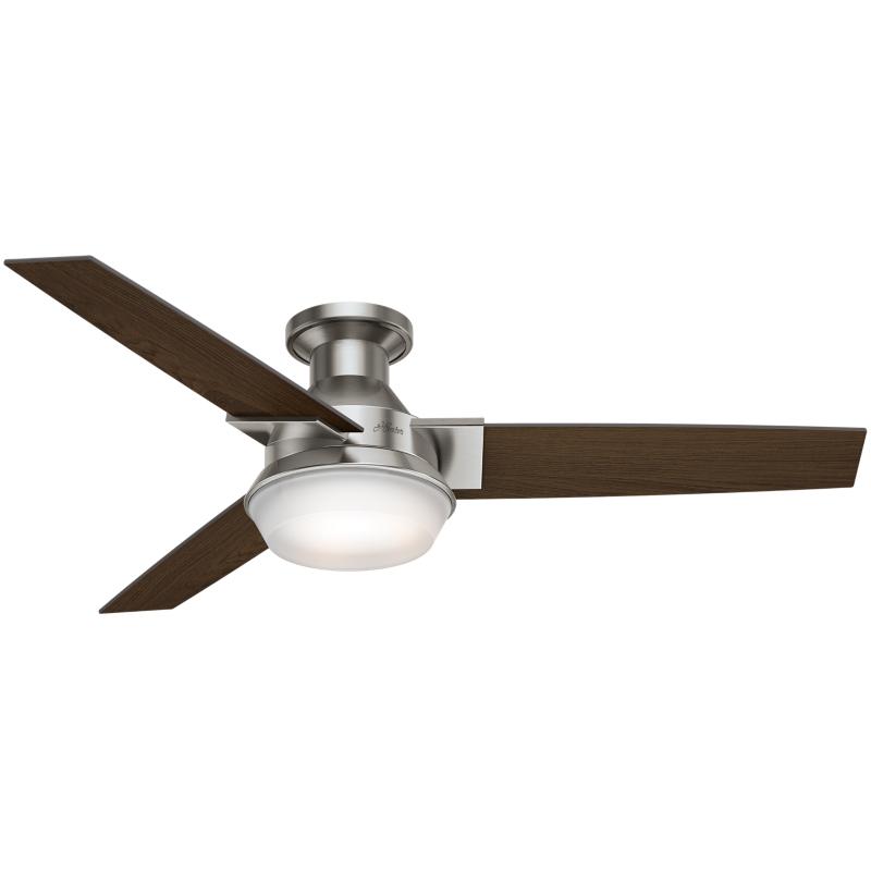 """Ventilador de techo con luz y control remoto 52"""" 5133 CFM Morelli 59141 Hunter"""