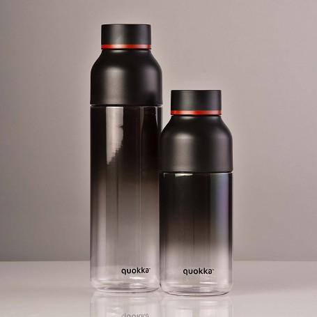 Botella tomatodo con soporte para celular Degrade Negro / Clear Quokka