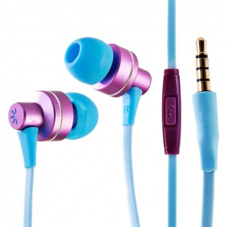 Audífonos alámbricos con micrófono / cable plano Case Logic