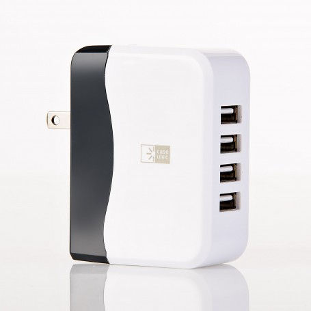 Cargador para pared 4.9Amp con 4 puertos USB Case Logic