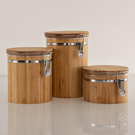 Repostero hermético Natural Bamboo Novo