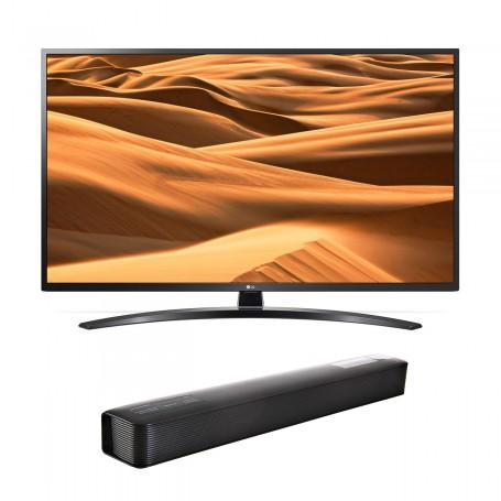 "LG TV LED Digital ISB-T Smart UHD 4K Wi-Fi / Bluetooth 2 USB / 3 HDMI 55"" / 65"" UM7470PSA + Barra de sonido"