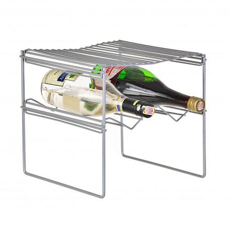 Organizador de botellas para refrigerador Metalizado